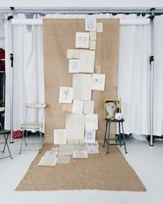 Beautiful book collage backdrop at this wedding booth! #rentmyphotobooth Nice photo via #studiodiy