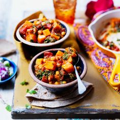 LOVE life butternut and chick pea curry- perhaps add sweet potato. Chickpea Recipes, Veggie Recipes, Savoury Recipes, Bean Recipes, Curry Recipes, Healthy Eating Recipes, Cooking Recipes, Healthy Dishes, Healthy Foods