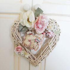 Floral Wicker Boudoir Heart