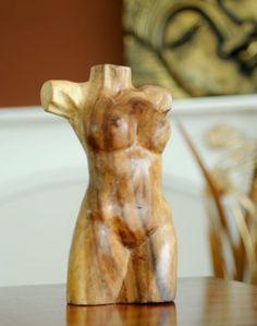 Natural Wooden Statue - Female Torso - 20 Cm | Fair Trade Gift Store | Siiren