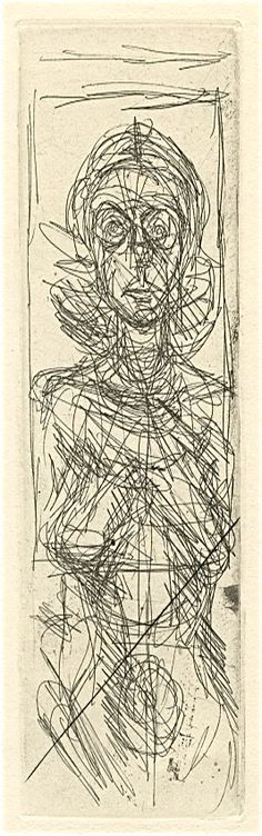 Annette de face 1956 by Alberto Giacometti Alberto Giacometti, Figure Drawing, Line Drawing, Drawing Sketches, Painting & Drawing, Fairy Drawings, Etching Prints, Art Moderne, Gravure