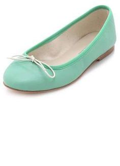Mint ballet flats - would be cute to throw an unexpected color twist to traditional preppy jeans/etc.