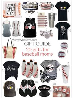 -- 20 Gifts for Baseball Moms Gift Guide -- 20 Gifts for Baseball Moms Travel Baseball, Baseball Boys, Baseball Gifts, Softball Mom, Baseball Mom Shirts Ideas, Baseball Lineup, Baseball Couples, Baseball Boyfriend, Softball Cheers