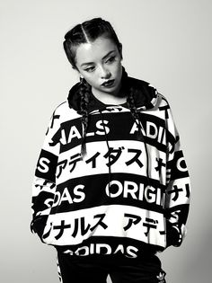 Typo Monogram capsule - adidas originals FW14 by alessandromilito Black and white blocking with a bold mix of japanese and latin alphabet. This clean typography inspired graphic uses just a strong and...