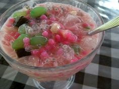 Es campur....this is the favorite beverage when the hot day....ice with somefruits, milk and syrup