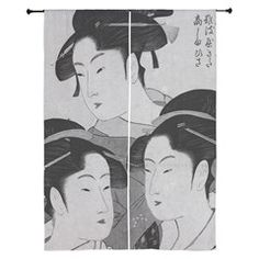 Vintage Japanese Women Curtains