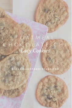 These chocolate chip oatmeal cookies cook to a delectably chewy and buttery treat.