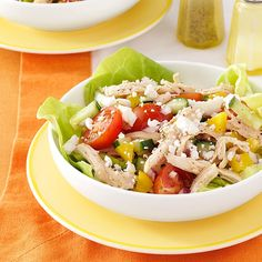 Feta Chicken Salad Recipe -I grew up eating chicken because my father was the manager at a poultry facility, but this is the one dish that never gets boring. —Cheryl Lundquist, Wake Forest, North Carolina