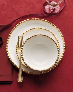 Beaded Dinnerware at Horchow.  So elegant!!   #Horchow