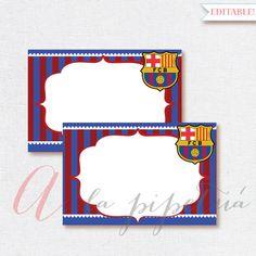 Barcelona printable. Printable Favor Tags Soccer Birthday diy Thank You Tags. Barcelona signs.  INSTANT DOWNLOAD
