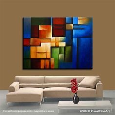 geometric abstract painting - Buscar con Google