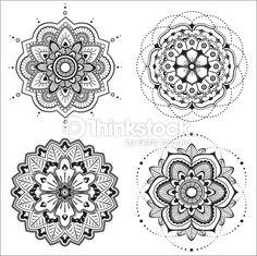 Illustration about Mandala Illustration. Illustration of shape, mandala, henna - 23828936