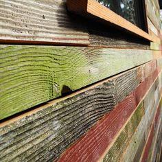 backyard cottage closeup wood