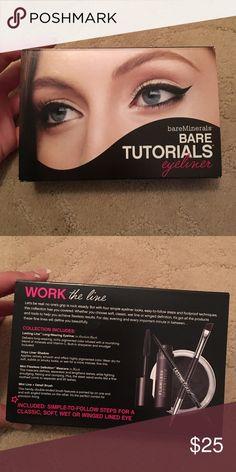 Eye liner kit  This is a eye liner kit, tutorial kit! In all black! Never been used! bareMinerals Makeup Eyeliner