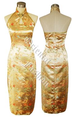 gold chinese dress