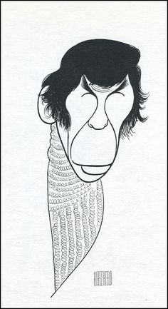 Leonard Nimoy, drawn by that quintessential theater artist, Al Hirschfeld