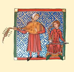 Medieval Musicians, adapted by artist Ruth Tietjen Councell from a 13th c. Castilian manuscript