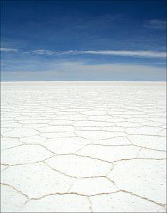 Salt flats in Salar de Uyuni, Bolivia. <3