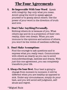 The Four Agreements   Words Of Wisdom   The Tao of Dana: