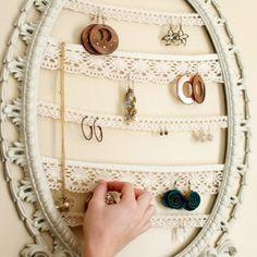 cool idea to hang earings