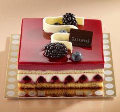 Work of art! Beautiful Desserts, Fancy Desserts, Gourmet Desserts, Mini Cakes, Cupcake Cakes, Decoration Patisserie, Cake Recipes, Dessert Recipes, Square Cakes