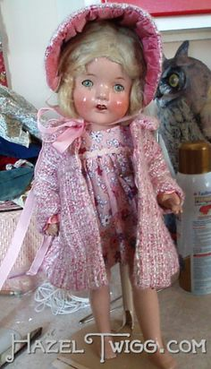 """Meet Pinky! The first Once-Loved Doll (O.L.D.) from the book, """"Hazel Twigg & the Hollyhock Hideaway."""""""