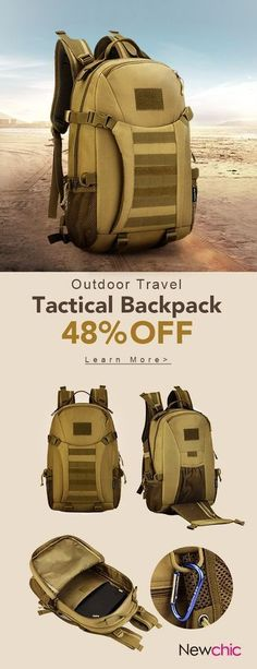 US$46.66 35L-40L Adjustable Tactical Military Outdoor Travel Climbing Backpack For Men#bags #outdoor #travelling #military #backpacking #travelbackpacks #tacticalbag