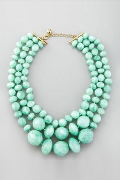 Mint chunky necklace #lovethis