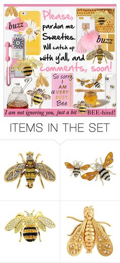"""Busy Bee"" by calamity-jane-always ❤ liked on Polyvore featuring art, katespade, 1stdibs, artset and artexpression"