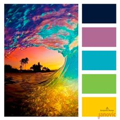 Todays ‪ is bright tones that will make you wish summer was never going to end. Color Palette For Home, Color Schemes Colour Palettes, Colour Pallette, Color Combinations, Color Balance, Design Seeds, Colour Board, Color Stories, Color Theory