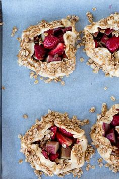 Oat-Crusted Strawberry, Rhubarb & Maple Galettes - The Brick Kitchen