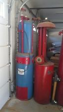 Vintage gas pump Gilbert & Barker from the 20's (red and blue only)