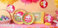 Vaisselle jetable lapins Pâques : VegaooParty vente de vaisselle et déco de Pâques pas chère