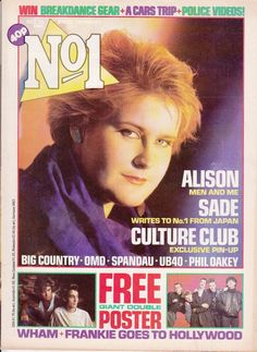 Magazine Oct 13 1984 Alison Moyet - Yazoo / Phillip Oakley - Human League in Books, Comics & Magazines, Magazines, Music, Dance & Theatre Alison Moyet, Frankie Goes To Hollywood, Yazoo, Pop Magazine, Big Country, Culture Club, 80s Music, Band Posters, Vintage Music