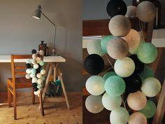 Zestaw MARIN Miętowe odcienie kulek wnoszą orzeźwienie zarówno do przestrzeni zajmowanej przez dorosłych jak i dzieci. Są łagodnie pastelowe i bardzo świeże. http://www.cottonballlights.pl/onze-favorieten.html