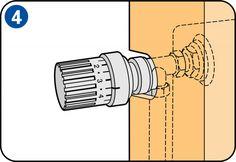 Eine Heizkörperverkleidung bauen - Thermostatventil