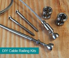 DIY Cable Railing Store - house and flat decorations Cable Stair Railing, Deck Railings, Banisters, Cable Railing Systems, Stainless Steel Cable Railing, Porch Stairs, Balustrades, Railing Design, Railing Ideas