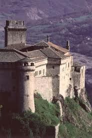 Bardi Castle in Parma province, was first erected in the IX century. It became a fortress during the XIV century. Later on was the mansion of the family which owned it, the Landi. They decorated it and made it a proper place to live in. In 1863 became a prison.