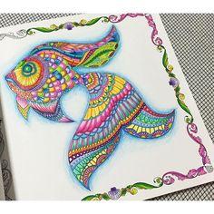 Secret Garden Coloring Book, Johanna Basford Coloring Book, Color Harmony, Doodles, Coloring Book Pages, Elementary Art, Color Inspiration, Creations, Lost