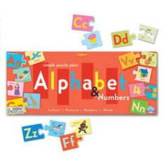 #Alphabet and Numbers Puzzle Pairs by EEBOO #literacy #home #education
