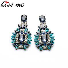 New arrival Statement Trendy Jewelry Elegant Shiny Resin Stone Blue Plant Earrings for women pendientes Trendy Jewelry, Cute Jewelry, Jewelry Accessories, Fashion Accessories, Fashion Jewelry, Women Jewelry, Jewelry 2014, House Accessories, China Jewelry