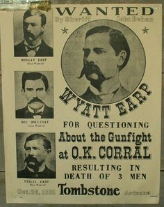 Real Old Wanted Posters | Wanted Poster: Wyatt Earp | Flickr - Photo Sharing!