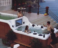 Ultimate Hot Tub.......hmmm can't wait till my last child graduates HS then maybe we can afford this splurge;)