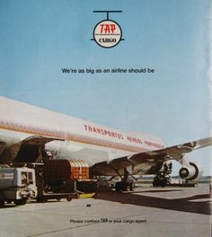 TAP Cargo vintage ad Vintage Airline, Vintage Travel Posters, Vintage Ads, Jumbo Jet, Cargo Airlines, Commercial Aircraft, Aeroplanes, Air Travel, Flight Attendant