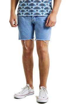 Skinny Fit Cutoff Denim Shorts