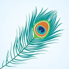 Illustration of Vector isolated peacock feather vector art, clipart and stock vectors. Peacock Vector, Feather Vector, Peacock Feather Tattoo, Feather Art, Peacock Feathers, Feather Illustration, Owl Tattoo Design, Tattoo Designs, Tanjore Painting