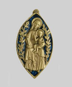 Mary and Child Plaque, bronze and enamel, made in France, $127.  #MothersDay #CreatorMundi