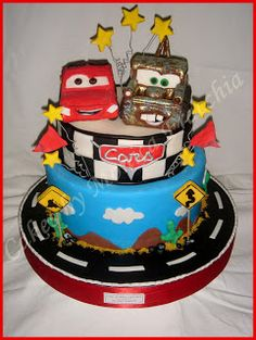 TORTA DECORADA DE CARS | TORTAS CAKES BY MONICA FRACCHIA