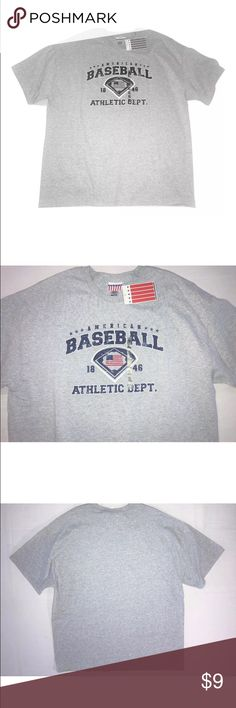 NEW Kohl's Young Men's Baseball T-Shirt Adult XL NEW Kohl's Young Men's Baseball T-Shirt SIZE Adult XL  New with tag - the perforated price portion of the tag is missing  Hanging tag reads: Young Men's  Neck tag size reads: Adult XL  Chest: 48 inches around unstretched Length: 29 inches 90% Cotton, 10% Polyester   I try my best to capture the correct color/shade but the actual shade may vary.    Thank you so much! Kohl's Shirts Tees - Short Sleeve
