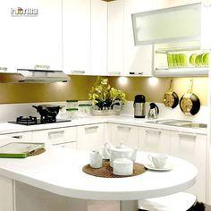 Sentuhan Warna Gold Membuat Dapur Anda Terlihat Mewah Dan Menawan